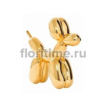 Собака декоративная Fiberstone platinum dog gold, под цвет золота Длина — 47 см  Высота — 40 см
