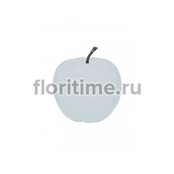 Яблоко декоративное Pottery Pots Apple glossy white, белого цвета XL размер  Диаметр — 64 см Высота — 68 см