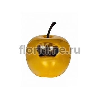 Яблоко декоративное Pottery Pots Apple platinum glossy gold, под цвет золота S размер  Диаметр — 255 см Высота — 29 см