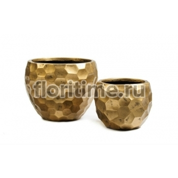 Кашпо Ergo Comb полусфера: застаренное золото