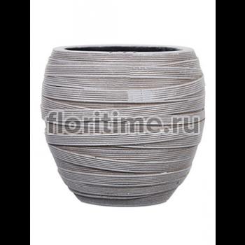 Кашпо Capi nature vase elegant i loop ivory
