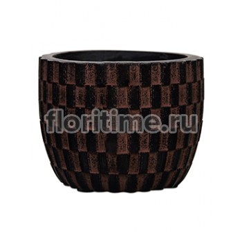 Кашпо Capi nature egg planter ii wave brown