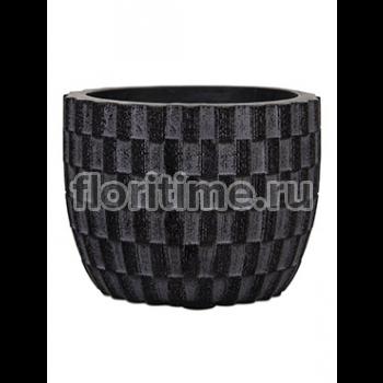 Кашпо Capi nature egg planter ii wave black