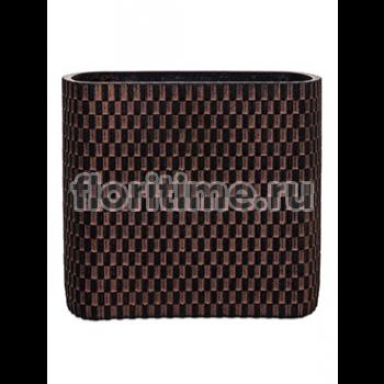 Кашпо Capi nature vase ellips wave iii brown