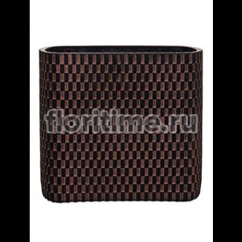 Кашпо Capi nature vase ellips wave ii brown