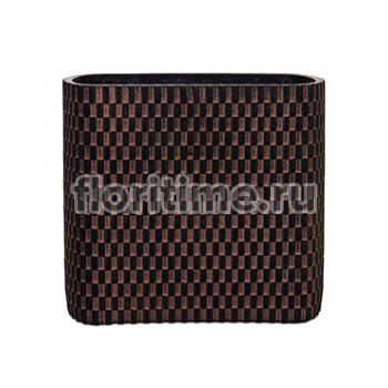Кашпо Capi nature vase ellips wave i brown