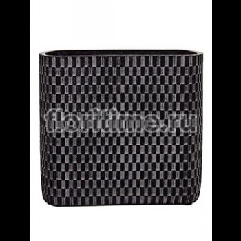 Кашпо Capi nature vase ellips wave iii black