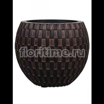 Кашпо Capi nature vase eggplanter iii wave brown