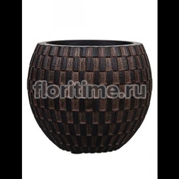 Кашпо Capi nature vase eggplanter ii wave brown