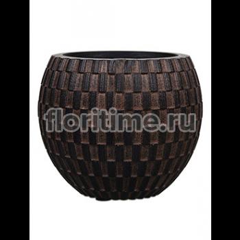 Кашпо Capi nature vase eggplanter i wave brown