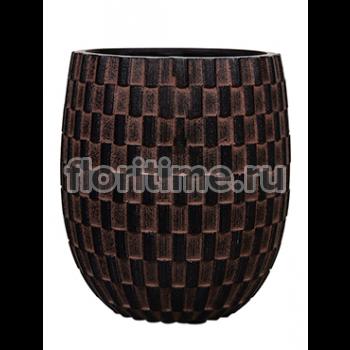 Кашпо Capi nature vase elegant high iii wave brown