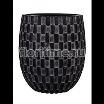 Кашпо Capi nature vase elegant high i wave black
