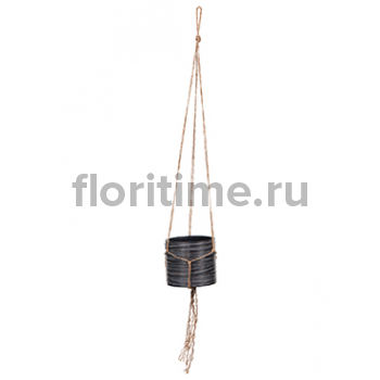 Кашпо Capi nature hanging vase cylinder i loop black