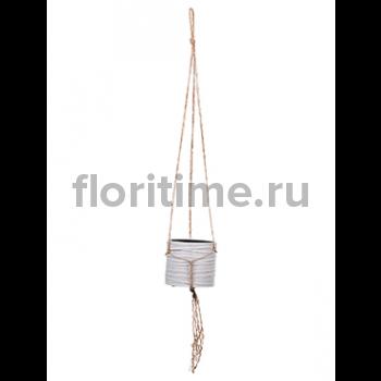 Кашпо Capi nature hanging vase cylinder i loop ivory