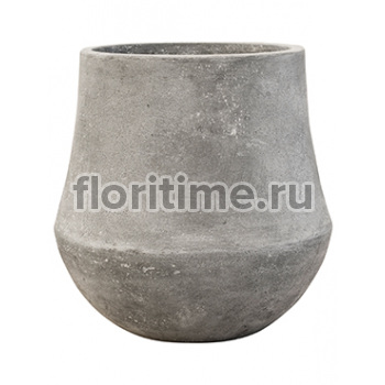 Кашпо Polystone coated darcy raw grey S