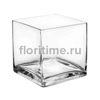 Ваза куб из стекла