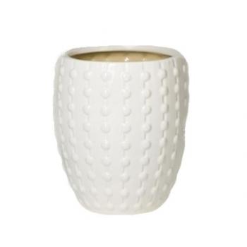 Кашпо Laos Mini, керамика, белый