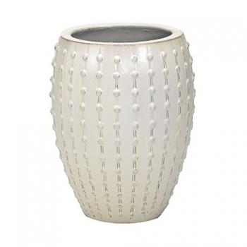 Кашпо Laos, керамика, кремовый