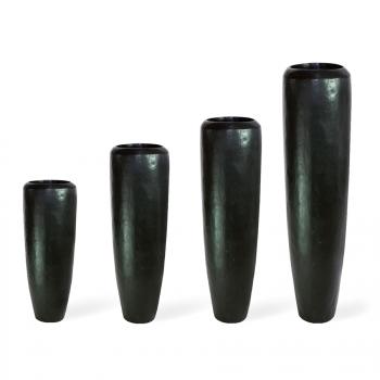 Кашпо LOFT Planter Black Iron, пластик