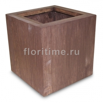Кашпо Мини куб, дерево