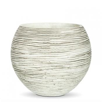 Кашпо Capi Nature Vase Ball Mini Rib, Ivory