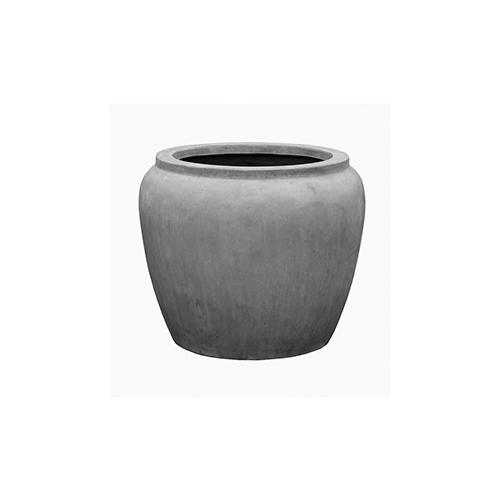Кашпо Alegria Waterjar round, серый