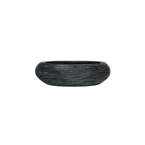 Кашпо Capi nature bowl round rib black