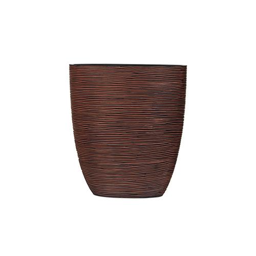 Кашпо Capi nature oval planter rib brown