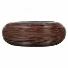 Кашпо Capi Nature bowl round rib 1-й размер brown, коричневый
