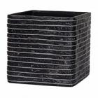 Кашпо Capi Nature row planter square 2-й размер black, чёрный