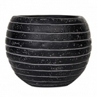 Кашпо Capi Nature row vase ball 2-й размер black, чёрный