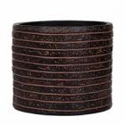 Кашпо Capi Nature row vase cylinder 2-й размер brown, коричневый