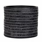 Кашпо Capi Nature row vase cylinder 3-й размер black, чёрный