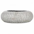 Кашпо Capi Nature stone bowl round 1-й размер ivory, слоновая кость