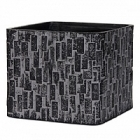 Кашпо Capi Nature stone planter square 2-й размер black, чёрный