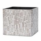 Кашпо Capi Nature stone planter square 2-й размер ivory, слоновая кость