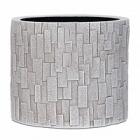 Кашпо Capi Nature stone vase cylinder 3-й размер ivory, слоновая кость