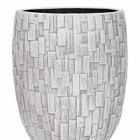 Кашпо Capi Nature stone vase elegant high 2-й размер ivory, слоновая кость