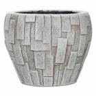 Кашпо Capi Nature stone vase taper round 3-й размер ivory, слоновая кость