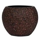 Кашпо Capi Nature wood vase ball 3-й размер brown, коричневый
