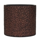 Кашпо Capi Nature wood vase cylinder 2-й размер brown, коричневый