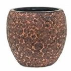 Кашпо Capi Nature wood vase elegant 2-й размер brown, коричневый