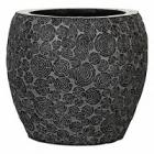 Кашпо Capi Nature wood vase elegant 3-й размер black, чёрный
