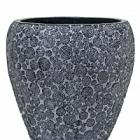 Кашпо Capi Nature wood vase taper round 3-й размер black, чёрный