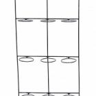 Держатель для Кашпо Artstone amy potrack black, чёрного цвета (9x hole for 10 cm) Длина — 39 см