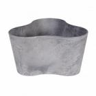 Кашпо Artstone clair triangle grey, серого цвета Длина — 26 см