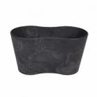 Кашпо Artstone claire pot duo black, чёрного цвета Длина — 26 см