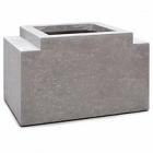 Кашпо Fleur Ami Modulo division square feet natural-фактура под бетон Длина — 56 см
