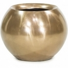 Кашпо Fleur Ami Glory ball bronze, бронзового цвета  Диаметр — 45 см