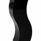 Кашпо Livingreen curvy s1 polished jet black, чёрного цвета Длина — 35 см